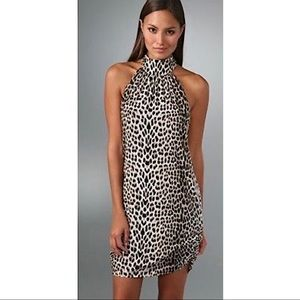 ALICE + OLIVIA Cheetah Leopard Print Halter Dress